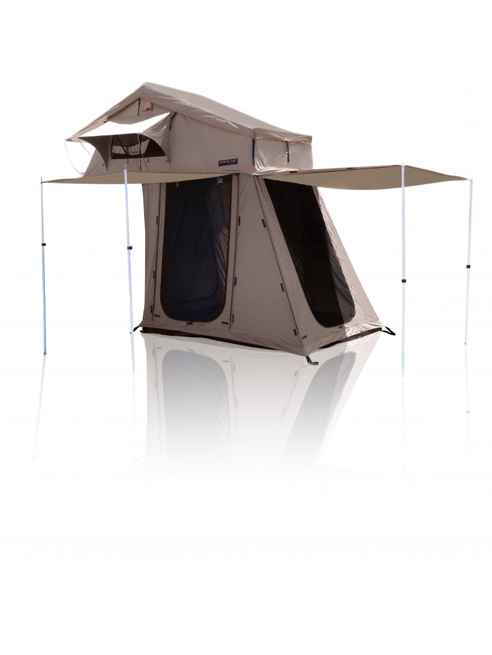 4Wd Awning Tent t050801606 - panorama 2 roof top tent with annex - rooftop